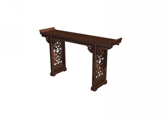传统中式原木色木艺书桌3D模型【ID:114973905】