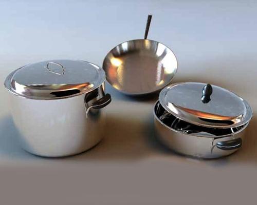银色厨具3D模型【ID:115005573】