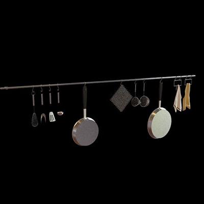 银色厨具3D模型【ID:115009567】