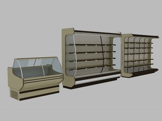 米色冰箱3D模型【ID:115057219】