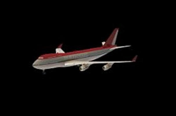 红色客机3D模型【ID:115063474】
