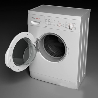 白色洗衣机3D模型【ID:115065514】