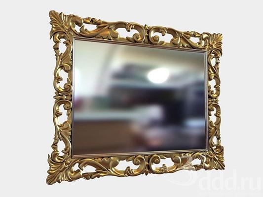 金色镜子墙饰3D模型【ID:115066981】