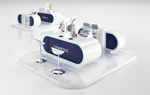 白色塑料展示架3D模型【ID:115070918】
