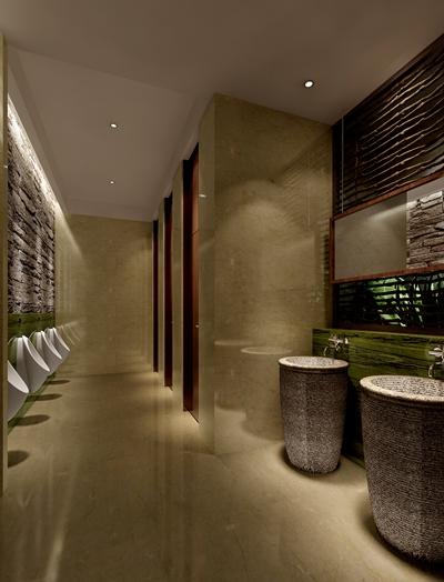 现代酒店卫生间3D模型【ID:115085041】