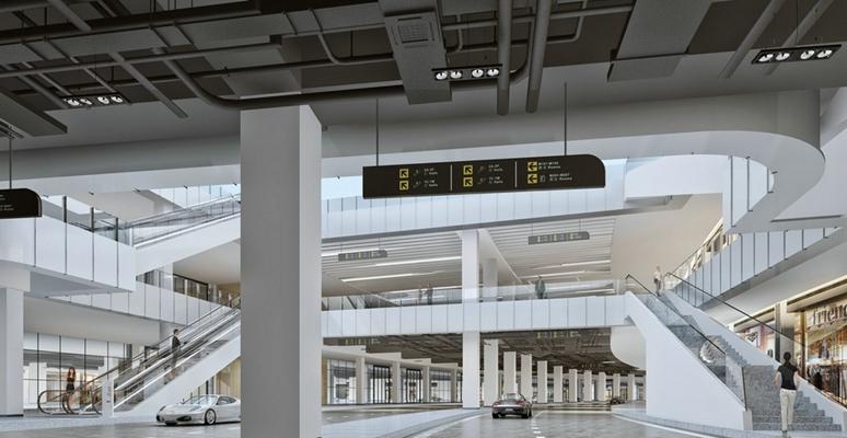 现代商场过道3D模型【ID:115193739】
