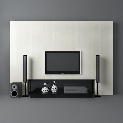 黑色电视3D模型【ID:115197348】