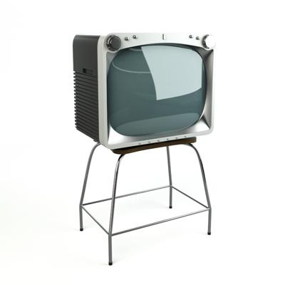 银色电视3D模型【ID:115233370】