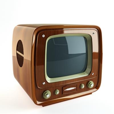 棕色电视3D模型【ID:115234342】