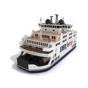 白色游轮3D模型【ID:115242062】