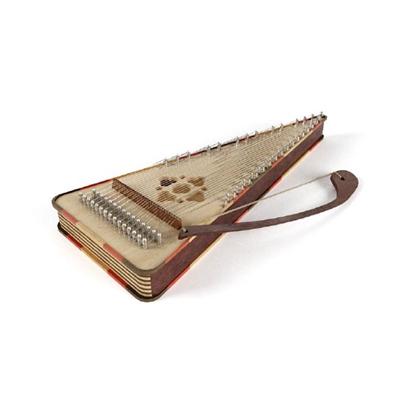 棕色木艺琴3D模型【ID:115242588】