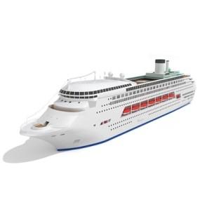 白色游轮3D模型【ID:115243001】