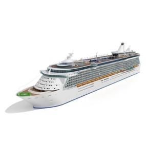 白色游轮3D模型【ID:115243010】