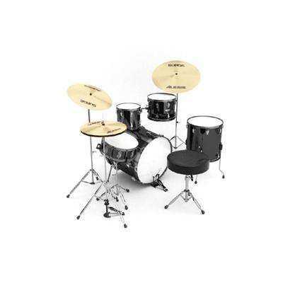黑色金属鼓3D模型【ID:115243225】