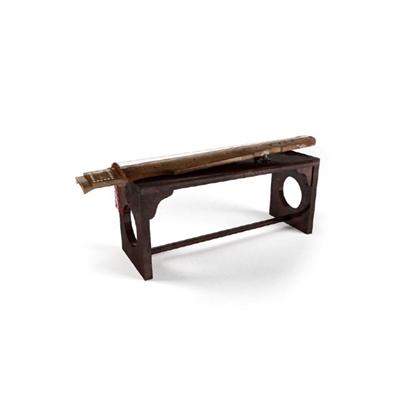棕色木艺琴3D模型【ID:115243505】