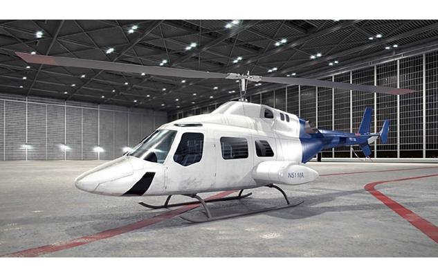 白色直升机3D模型【ID:115245370】