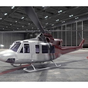 灰色直升机3D模型【ID:115245373】