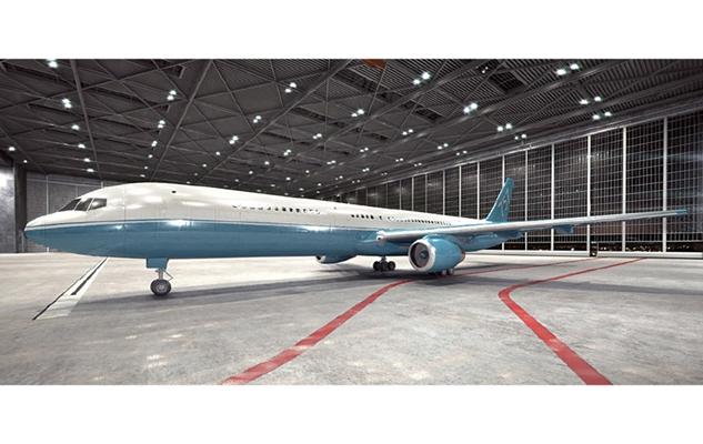 蓝色客机3D模型【ID:115245447】