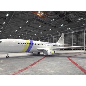 白色客机3D模型【ID:115245448】
