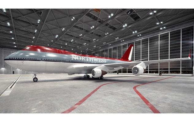 灰色客机3D模型【ID:115245450】