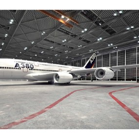 白色客机3D模型【ID:115245451】