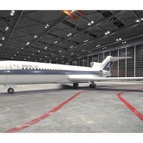 白色客机3D模型【ID:115245452】