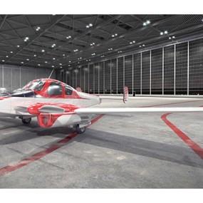 红色小型飞机3D模型【ID:115245556】