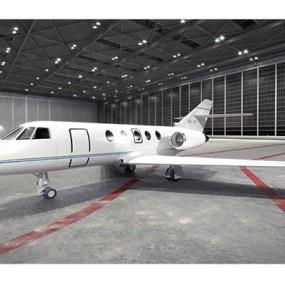 白色小型飞机3D模型【ID:115245558】