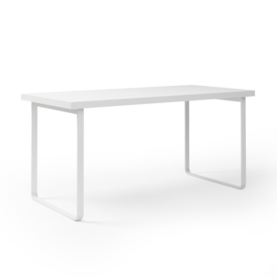 现代白色长方形木艺书桌3D模型【ID:115262913】
