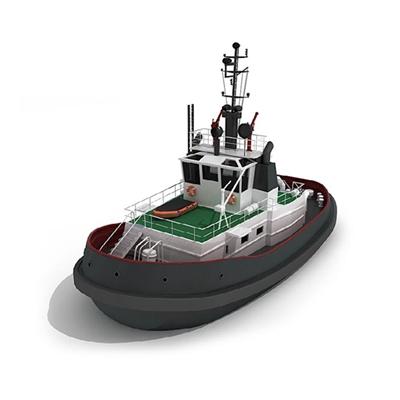 黑色轮船3D模型【ID:115273799】