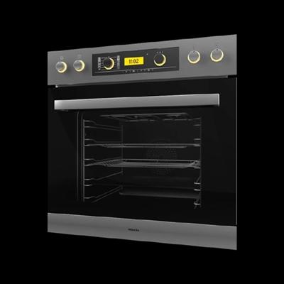 黑色烤箱3D模型【ID:115282879】