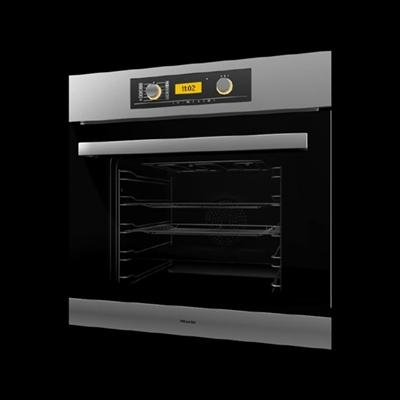黑色烤箱3D模型【ID:115282881】
