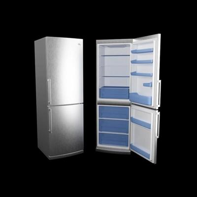 银色冰箱3D模型【ID:115283242】