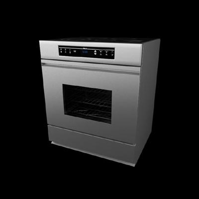 银色烤箱3D模型【ID:115283813】