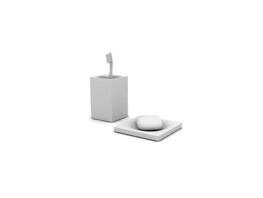 白模卫浴小件组合3D模型【ID:115339785】