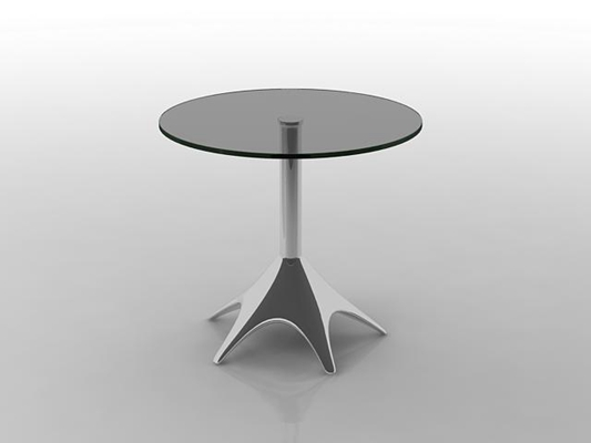 现代圆形玻璃休闲桌3D模型【ID:115341221】