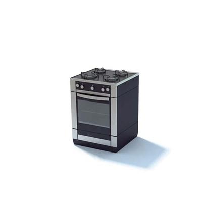 黑色烤箱3D模型【ID:115376829】