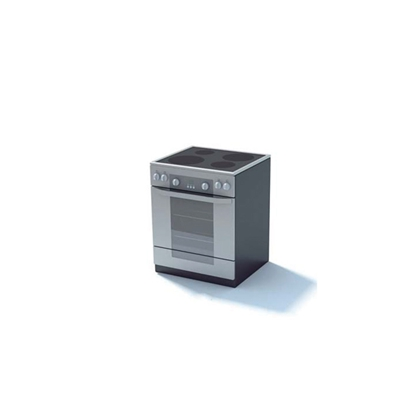 黑色烤箱3D模型【ID:115376843】