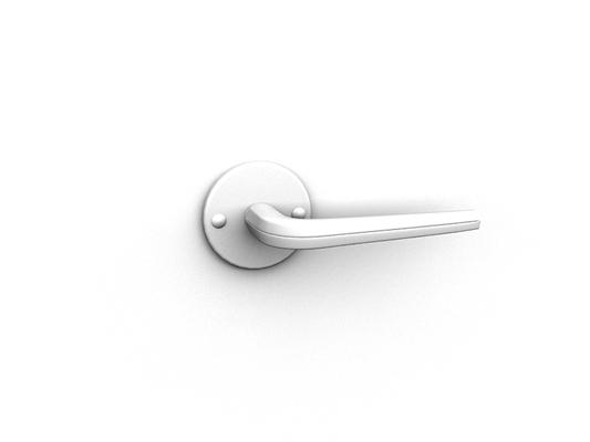 白模金属门把手273D模型【ID:115478323】