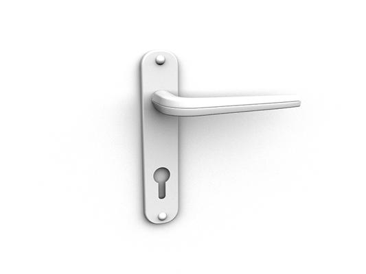 白模金属门把手313D模型【ID:115478328】