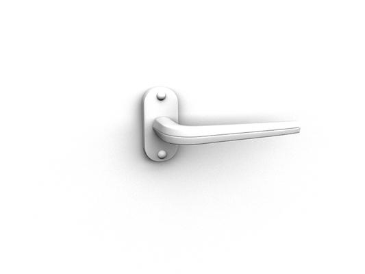 白模金属门把手333D模型【ID:115478333】