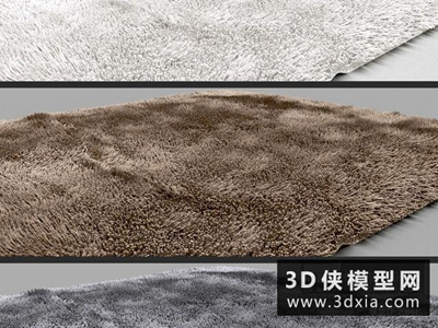 现代地毯国外3D模型【ID:329490896】