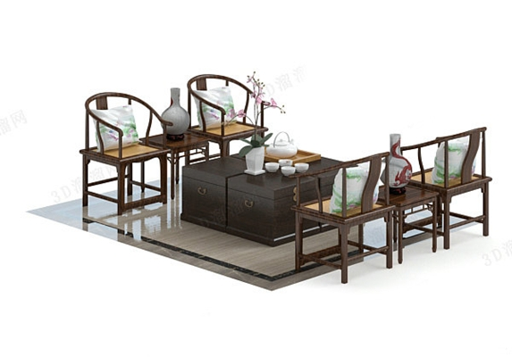 圈椅63D模型【ID:117024503】