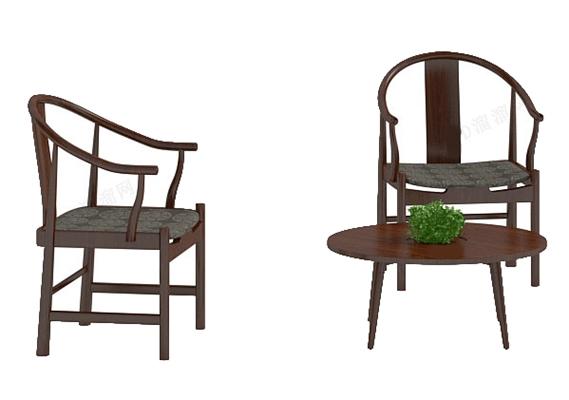 圈椅123D模型【ID:117024520】