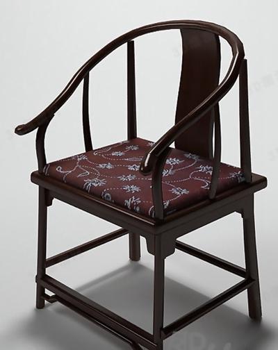 圈椅13D模型【ID:117249550】