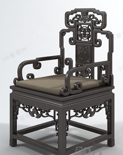 圈椅23D模型【ID:117249552】