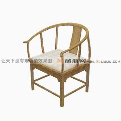 圈椅13D模型【ID:117257526】