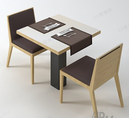餐桌椅组合153D模型【ID:117284976】