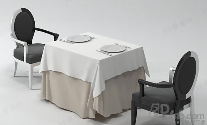 餐桌椅组合213D模型【ID:117284999】