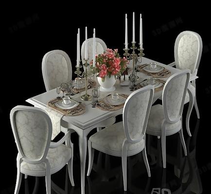 餐桌椅组合383D模型【ID:117285957】
